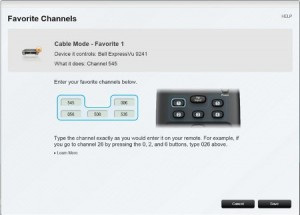 Creating Favorite Channels on the Harmony 300