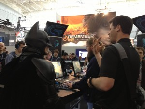 Batman visited the Logitech G booth at PAX East!
