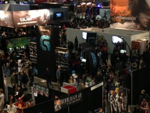 View of the Logitech G booth at PAX East