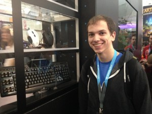 One of our Twitter winners with the Logitech G510s Gaming                                   Keyboard he won!