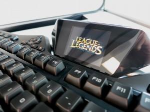 LoL logo on keyboard