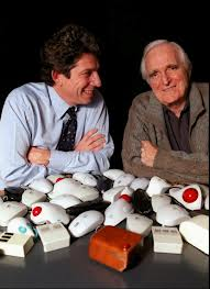 Doug Engelbart with Logitech chairman Guerrino De Luca