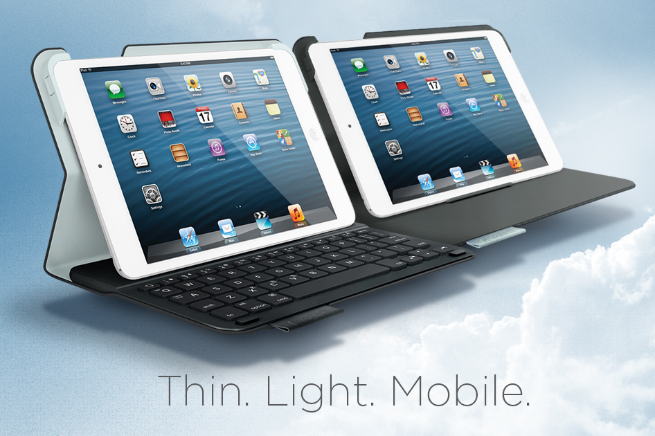 Logitech Ultrathin Keyboard Folio pro iPad mini a Logitech Folio Protective Case pro iPad mini
