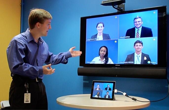 split screen conferencing