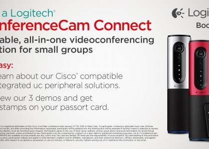 Visit Logitech at Cisco Live Milan 2015