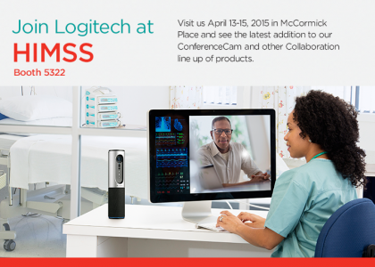 Logitech to Showcase Videoconferencing at HIMSS 2015