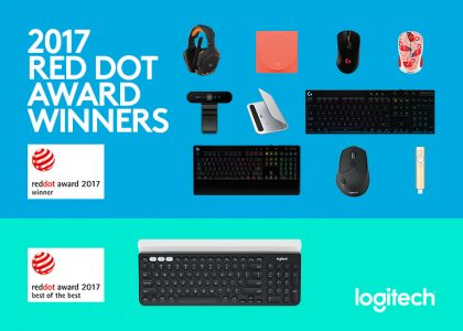 Logitech Awarded Nine Red Dot 2017 Product Design Awards