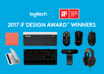 Logitech Breaks Company Record with Nine iF DESIGN AWARDS in 2017