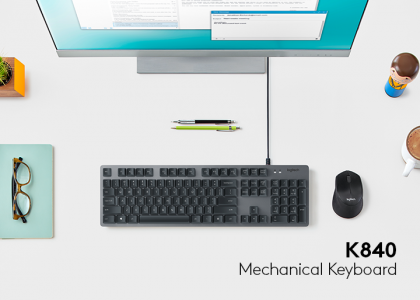 Mechanical Keys Aren't Just for PC Gamers Anymore — Thanks to the Logitech K840 Mechanical Keyboard