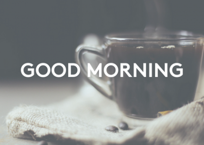 Start your day with a Good Morning activity
