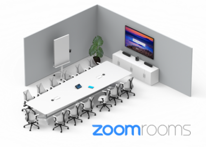Meet Happier with Logitech Room Solutions for Zoom Rooms