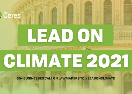 Logitech Participates in LEAD on Climate 2021
