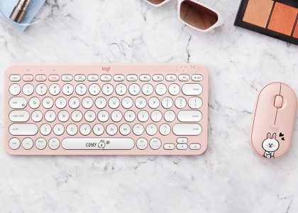 Grab your companions for everyday multitasking with the exclusive Logitech LINE FRIENDS Bluetooth keyboard and mouse